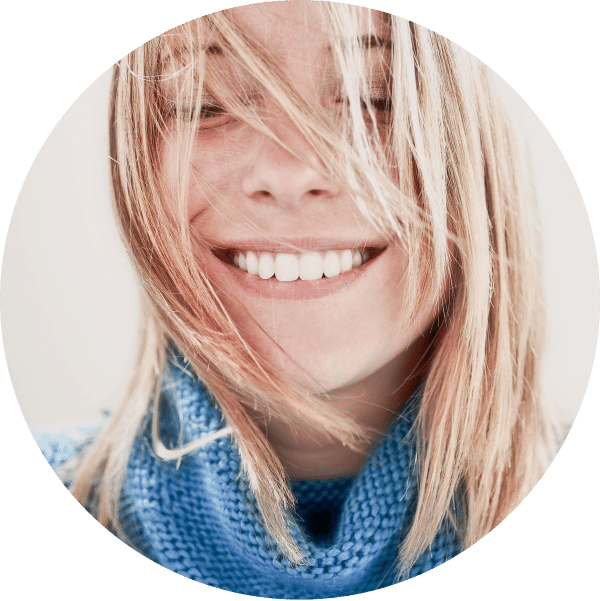 Picture of blond girl smiling